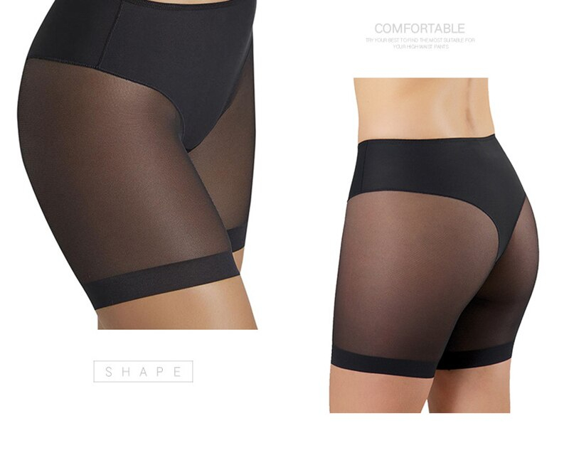 Shaping Panties Body Shaper Breathable High Stretch Seamfree Women's Underpants Cloth Splicing Mesh