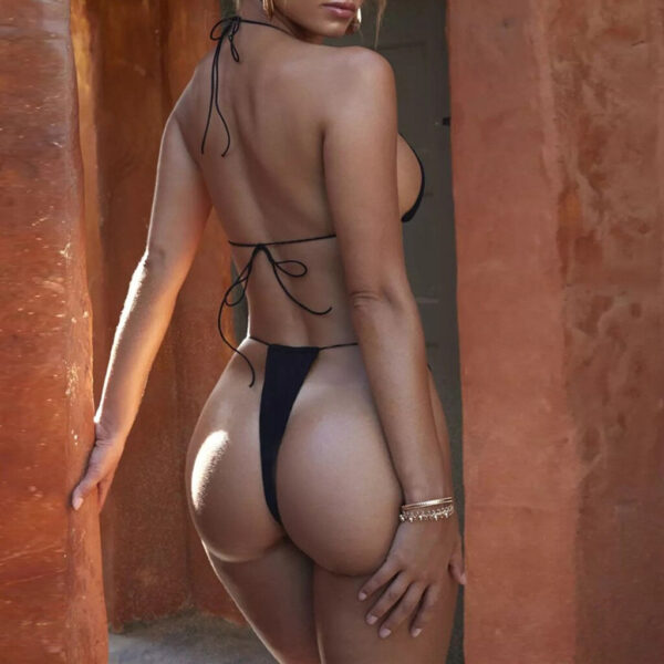Women Bandage Bikini Set Sexy Solid Push-Up Brazilian Swimwear Micro Bikinis Halter Beachwear Swimsuit Summer Wear
