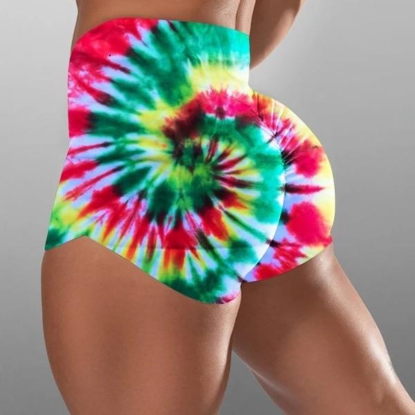 Beautiful Printed Women Sport Yoga Shorts