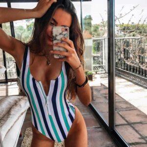 Awesome Striped Women Swim Bathing Suit