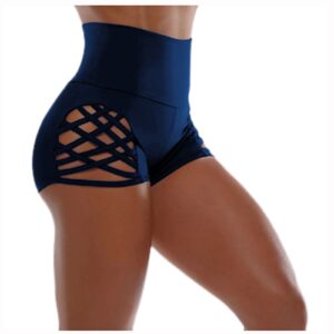 Summer Women Training Sport Workout Hollow Shorts