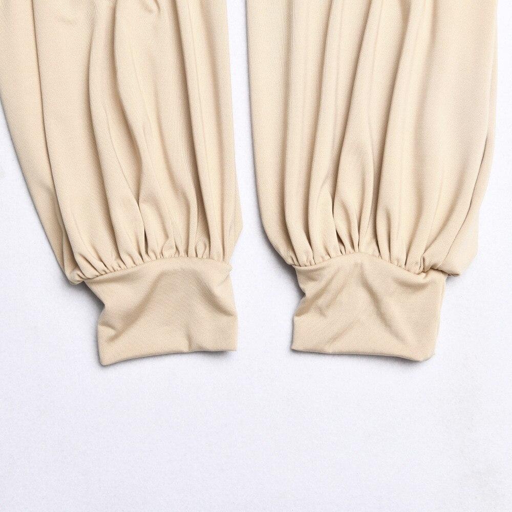 Elegant Solid Puff Women Bodysuit