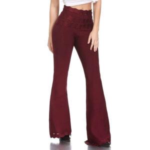 High Waist Bandage Female Trousers